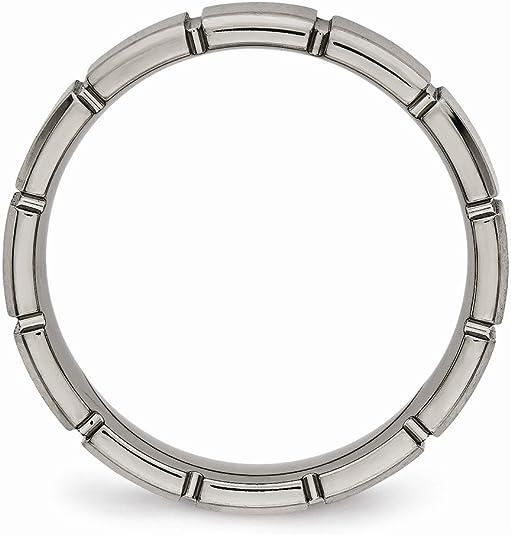 FB Jewels Solid Edward Mirell Titanium Casted Design 7mm Wedding Band