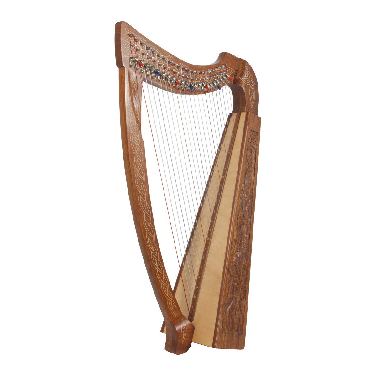 Roosebeck Heather Harp w/Full Chelby Levers - Vine Engraved