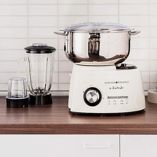 Team Kalorik 1007 KTO Tkg Robot de Cocina, 1200 W, 5.8 litros, Plástico, Acero Inoxidable Metal, 9 Velocidades, Beige/Blanco: Amazon.es: Hogar