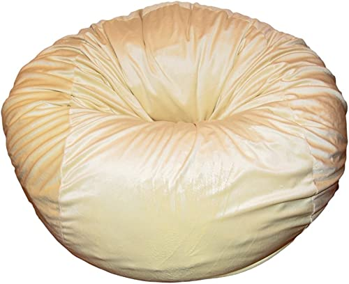 Ahh Products Cuddle Minky Yellow Washable Large Bean Bag Chair
