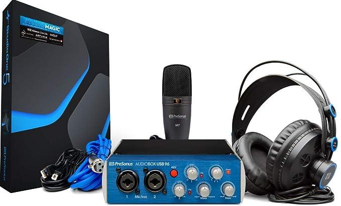 (Renewed) PreSonus 96 Studio High Definition Recording Kit, Blue