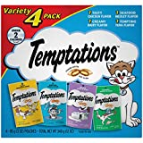 TEMPTATIONS Classic Treats for Cats Feline Favorite Variety Pack (Four 3-oz. Pouches)