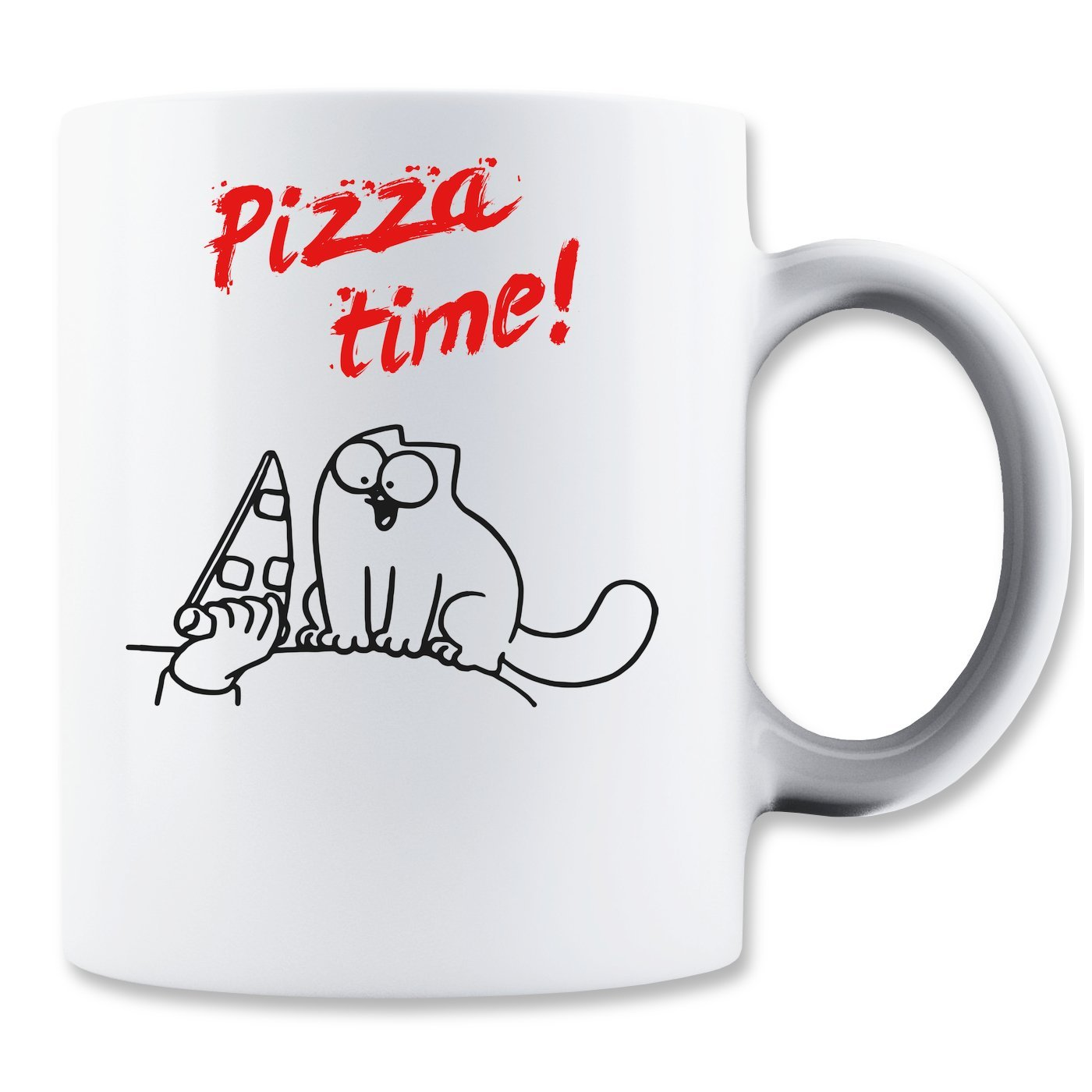 Simon's Cat Kaffeetasse: Pizza Time! (350ml)