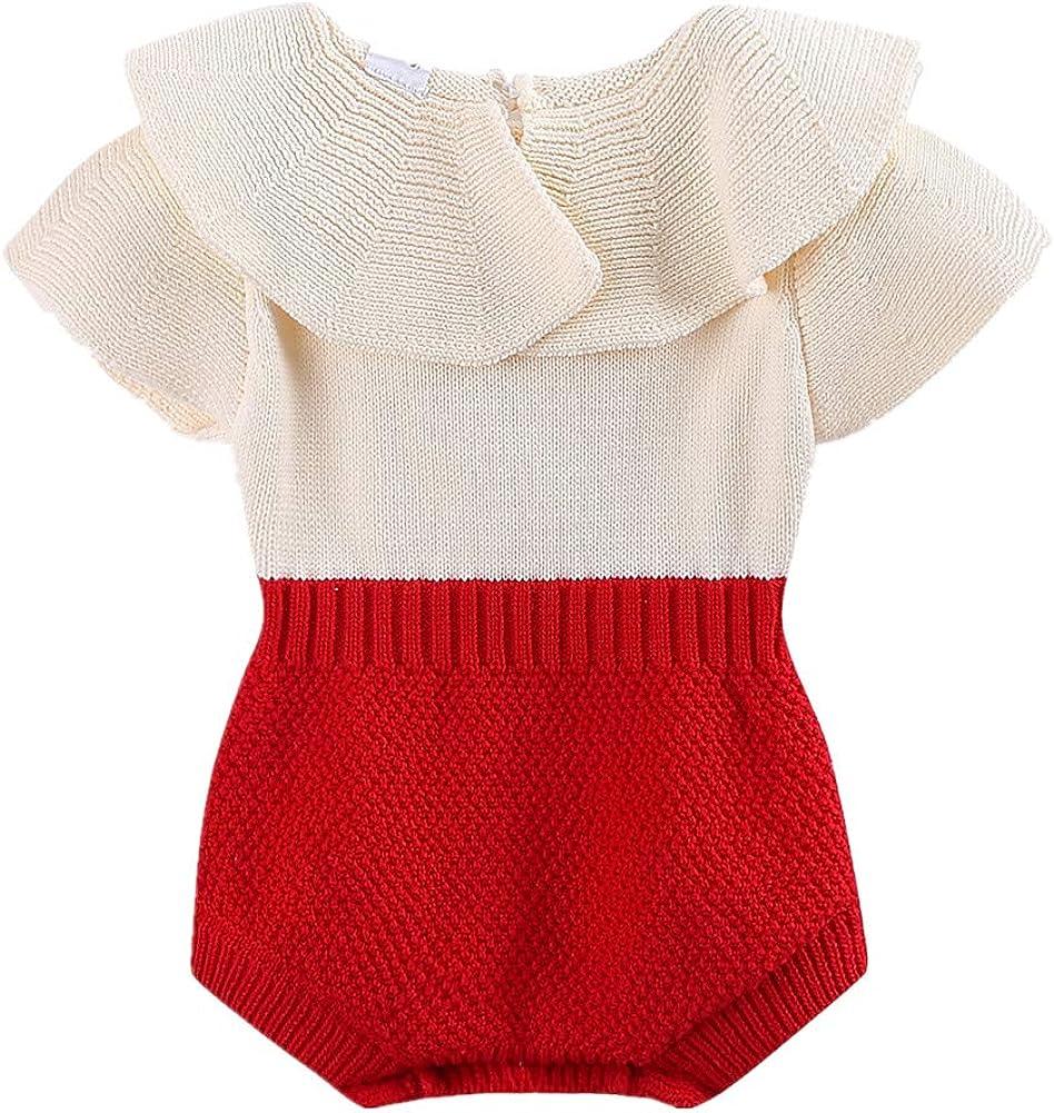 LittleSpring Baby Girls Bodysuits Sweater Long Sleeve