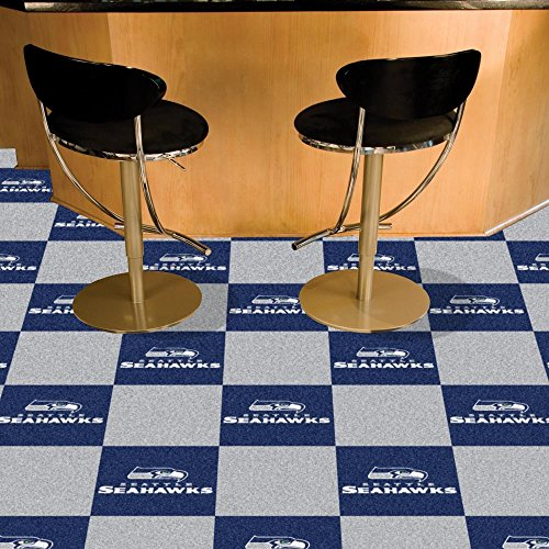 Team Fan Gear Fanmats Seattle Seahawks Carpet Tiles 18
