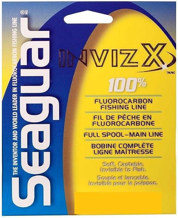 SEAGUAR InvizX 100/% Fluorocarbon Fishing Line 25lb 200yd Clear #00507