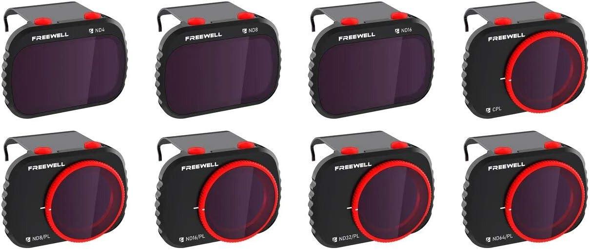 Freewell All Day - 4K Series - 8Paquetes de Filtros Compatibles con Mavic Mini/Mini 2