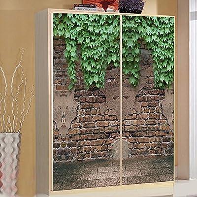 Yazi tamaño personalizado porche cocina puerta corredera Decor adhesivo Opacidad autoadhesivo Póster Mural de armario Ivy: Amazon.es: Hogar
