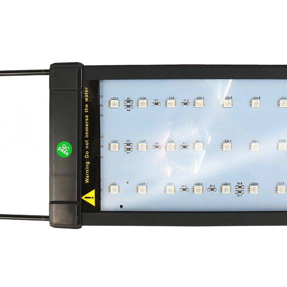 Asvert Lámpara de Acuario Luz LED Acuario 2 Modos Control Remoto de Iluminación para Acuarios de Peces y Estanques Soporte Ajustable con Eschufe EU (6): ...