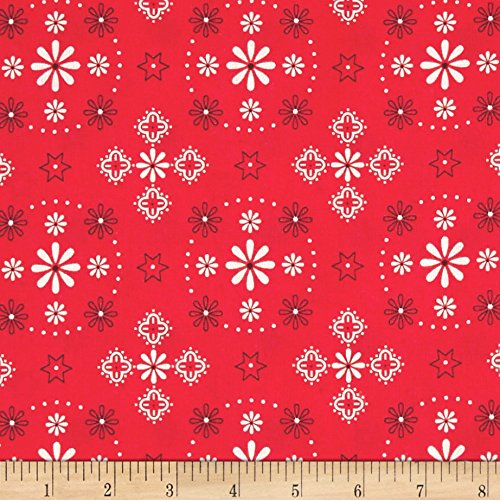 Riley Blake Bee Backings and Borders 108in Quilt Back Bandana Red Fabric By The Yard (Borders Red Fabric)