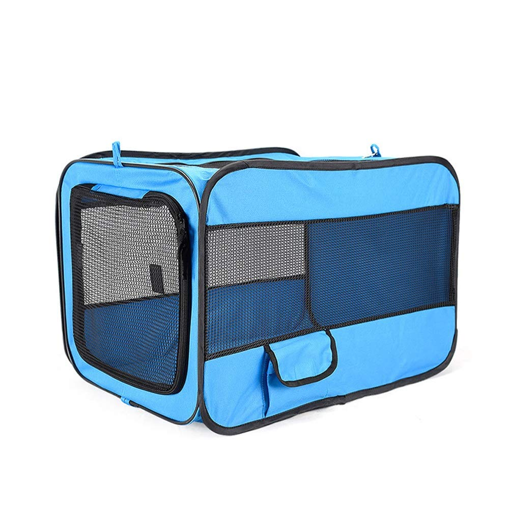 bluee L bluee L HYUE 600D Oxford Cloth Portable Fold Pet Car Nest (color   bluee, Size   L)