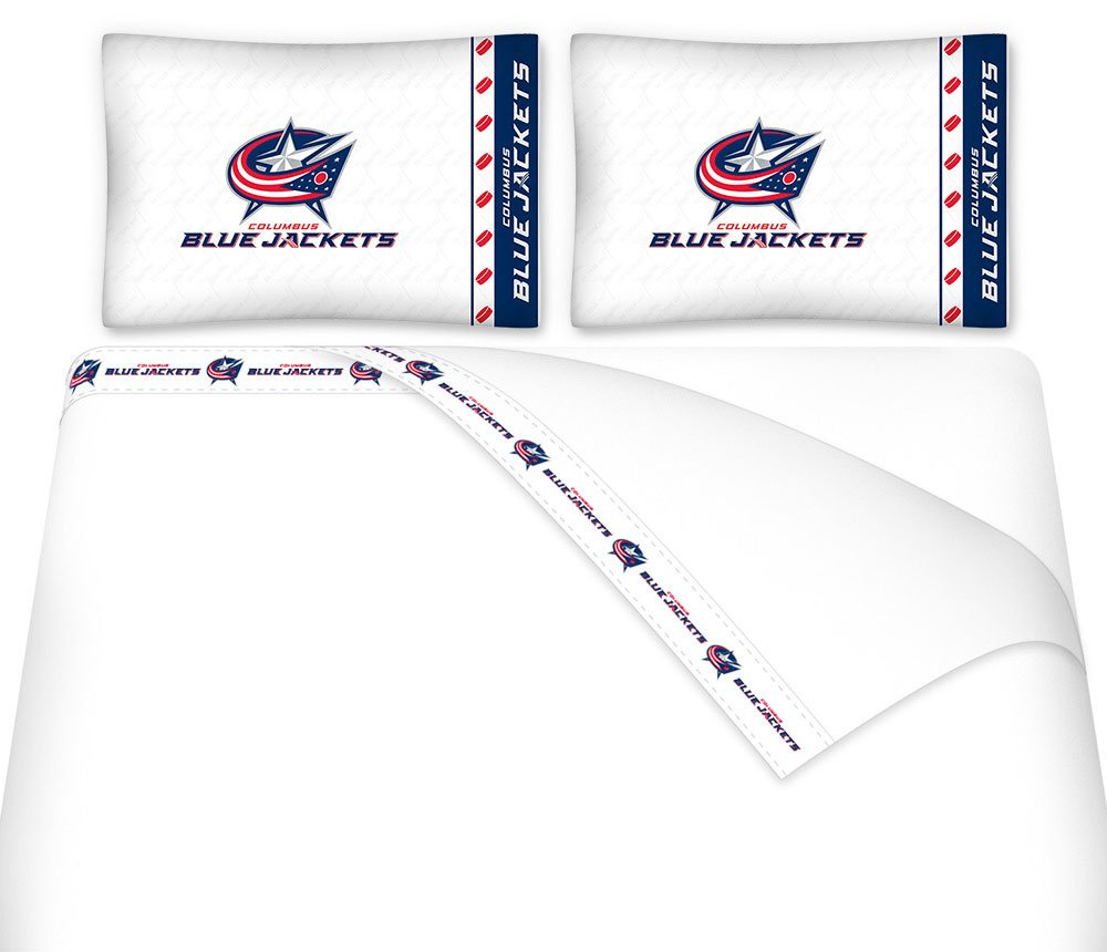 NHL Columbus Blue Jackets 5pc Bed in a Bag Queen Bedding Set