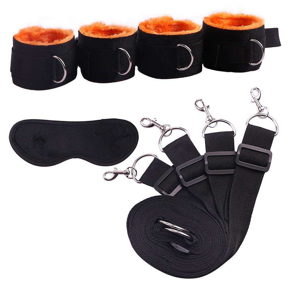 CS-YP Underwear Toys Wrist and Ankle Cuffs Genuine Soft Elegant Handcuffs Leg Cuffs for Couples CS-YP