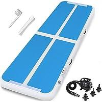 Ludosport turnmat gymnastiek turnmatten blauw airtrack opvouwbaar opblaasbaar mat met elektrische pomp voor thuis,buiten…