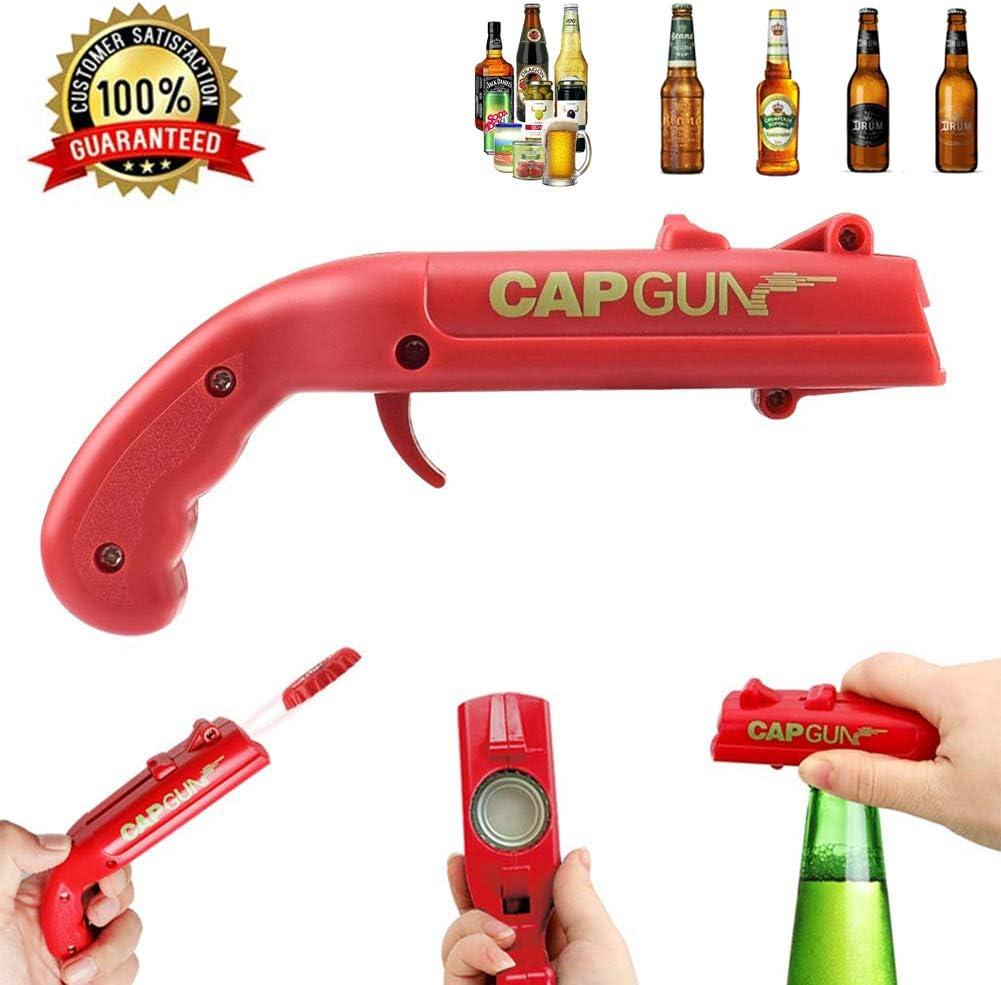 Abridor de botellas de cerveza, abridor de botellas de cerveza, pistola de juguete para bar y fiestas, más de 5 metros