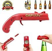 Stappa la tua birra o il tuo aperitivo e divertiti a spararlo con questa pistola apribottiglie. La forma è quella di una pistola dell