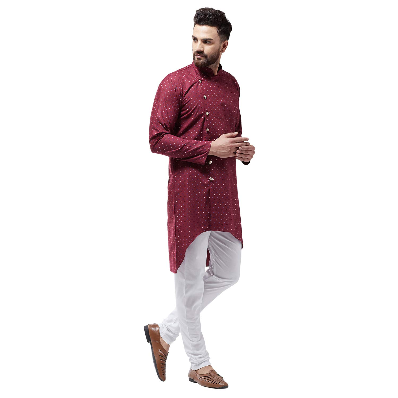 Bollywood-Indian-Kurta-Pajama-Dress-Tunic-Printed-Top-Men-Kurta-Ethnic-Wear thumbnail 17