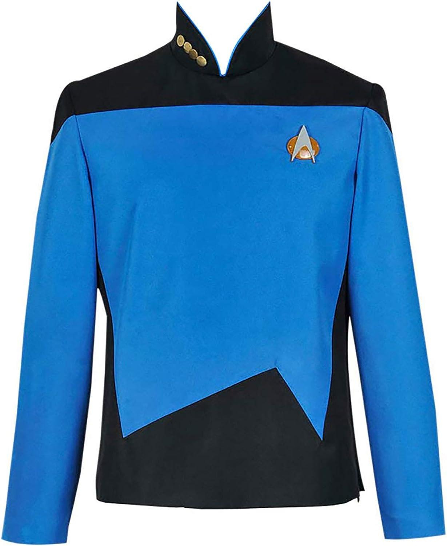 Amazon.com: XOMO Star Trek: The Next Generation Cosplay Command Uniform Costume: Clothing