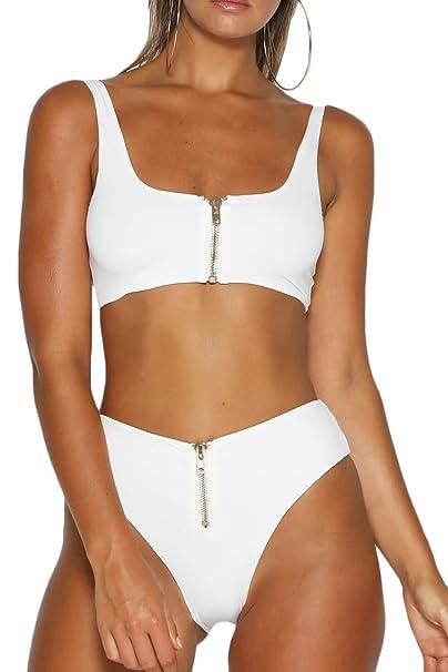 93e92a92335c3 Amazon.com  Symptor Women Sexy Push up Padded Brazilian Bikini Set Swimwear  Swimsuit Beach Suit White M  Clothing