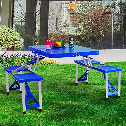 Portable Folding Table Bench Set Outdoor Lightweight Durable Practical Suitcase Size, Picnic, Beach, Camping, Excursions & e-book by jn.widetrade - Excursion Case