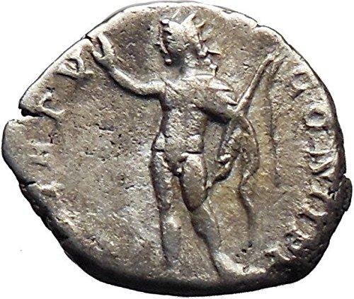 Septimius Severus Coins - Septimius Severus 197AD AR Ancient Roman Coin Nude Sol Sun w whip i30194