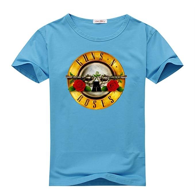 Guns N Roses Logo para mujer manga corta Tops camisetas gran cielo Azul