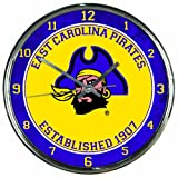 WinCraft NCAA East Carolina Pirates Chrome Clock