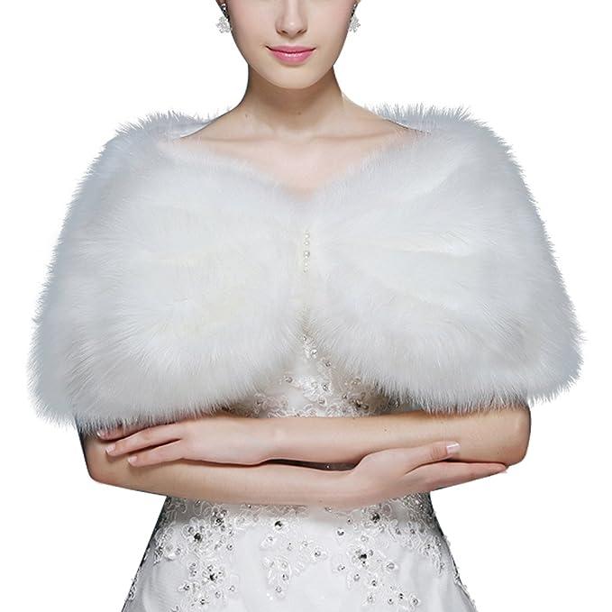 Dresstells reg;Mujer Chal Estola Bufanda De Piel Sintética Para Vestido De Fiesta Boda Invierno