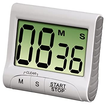 Compra Westeng Temporizador de Cocina Electrónico Timer Fitness Aula Reloj de Cocina Temporizador Digital Cronómetro Corto Tiempo size 82*72*28mm (Blanco) ...