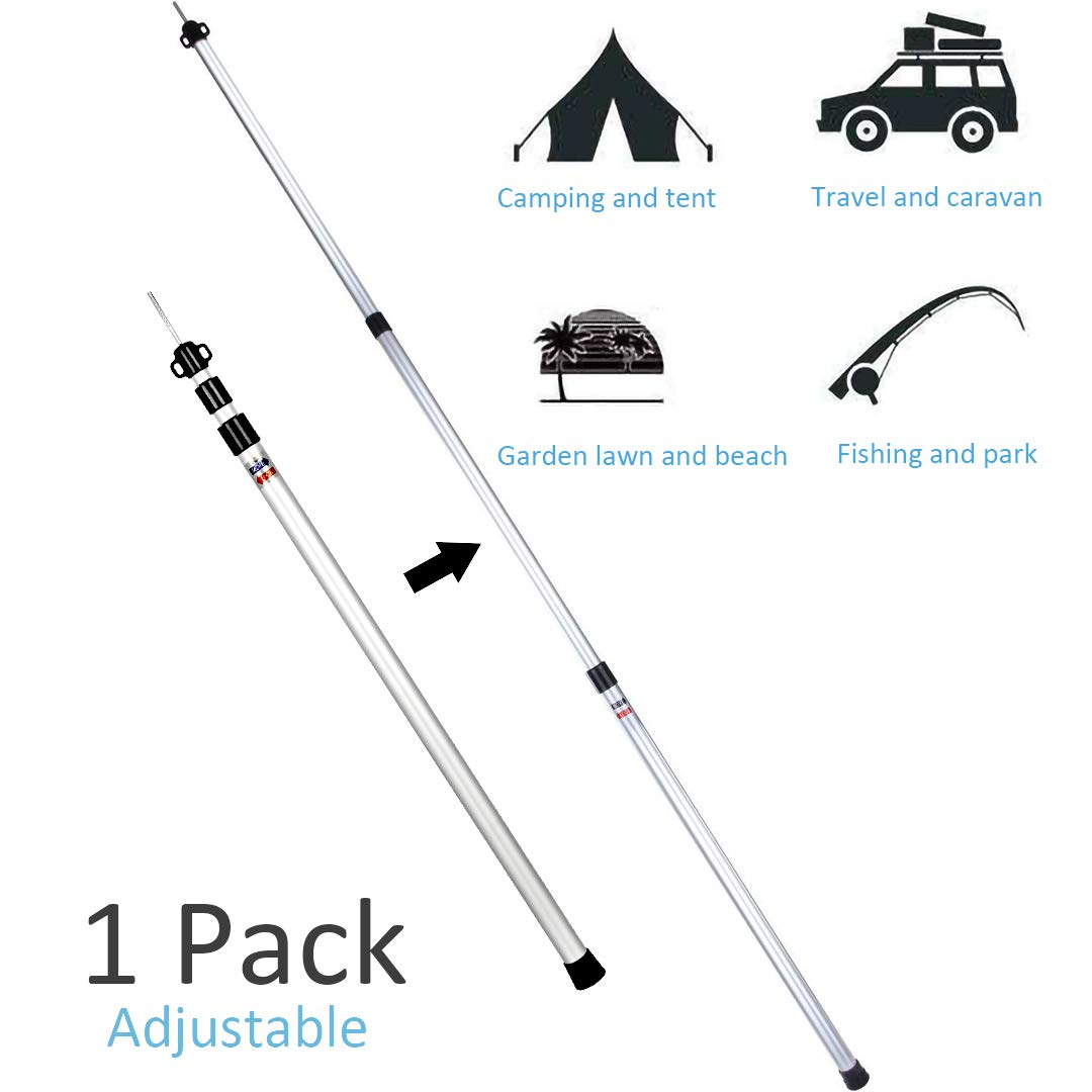 camping accessories caravan awnings telescopic pole suitable rain poncho awning canopy poles tarpaulin waterproof heavy duty shade sail Portable tent poles is a good tool for fishing beach tent home