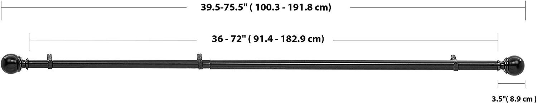 Bronze Basics Tringle /à rideau double avec embouts cylindriques 2,54 cm de 0,9 /à 1,83 m