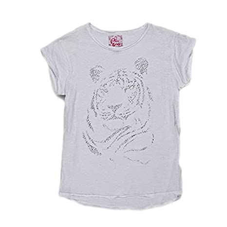 4a0e5267e9a83 Miss Girly-T-Shirt Fille 3 8 Ans Fig- Blanc-3 Ans  Amazon.fr  Sports ...