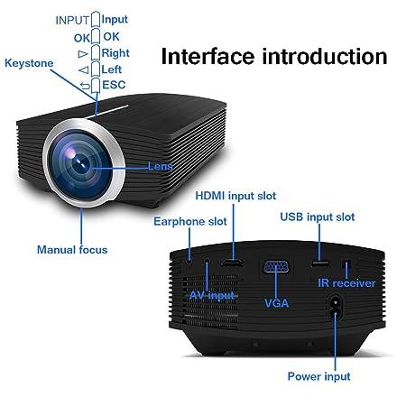 Full HD LED Proyector, huiheng LCD proyector multimedia proyector ...