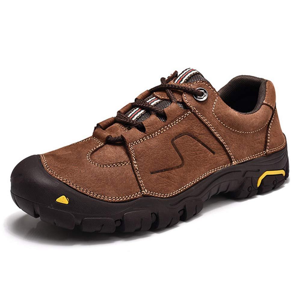XI-GUA Herren Outdoor Sport Wanderschuhe Lederspitze Herren Laufschuhe Herbst und Winter atmungsaktive Schuhe tragen