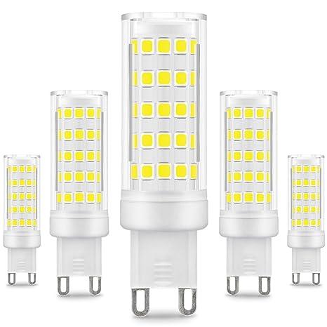 Kindeep - Bombilla LED regulable con casquillo G9, equivalente a bombilla halógena G9 de 50