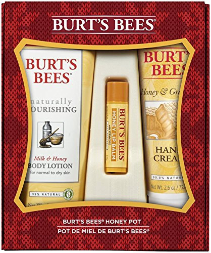 Christmas Gift Set (Burt's Bees Honey Pot Assortment Holiday Gift)