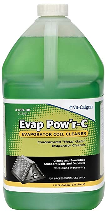 ac coil cleaner. nu-calgon 4168-08 evap pow\u0027r no rinse coil cleaner ac