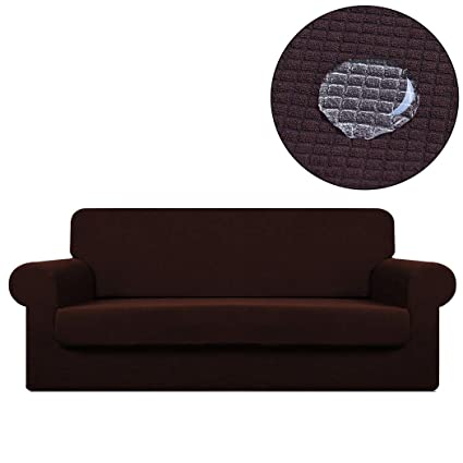 Amazon.com: 2-Piece Sofa Cover Slipcover Waterproof Couch ...