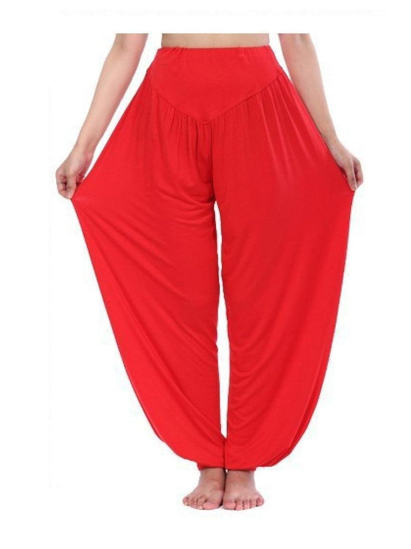 GZHGF Pantalones Harem Super Suave/Pantalones De Linterna Pantalones De Yoga/Pilates - Cintura Elástica Ligera: Amazon.es: Deportes y aire libre