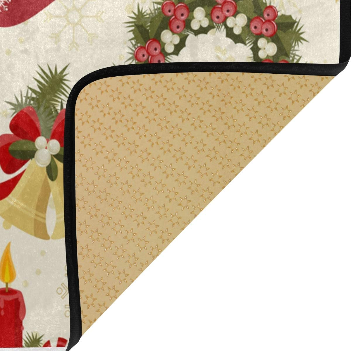 S Husky Kitchen Mat Watercolor Painting Pattern Gorgeous Red Flower Soft Non-Slip Floor Mats Tropical Plants Series Runner Area Rug for Hallway Entryway Bedroom Bathroom 39 x 20 inches 3040051