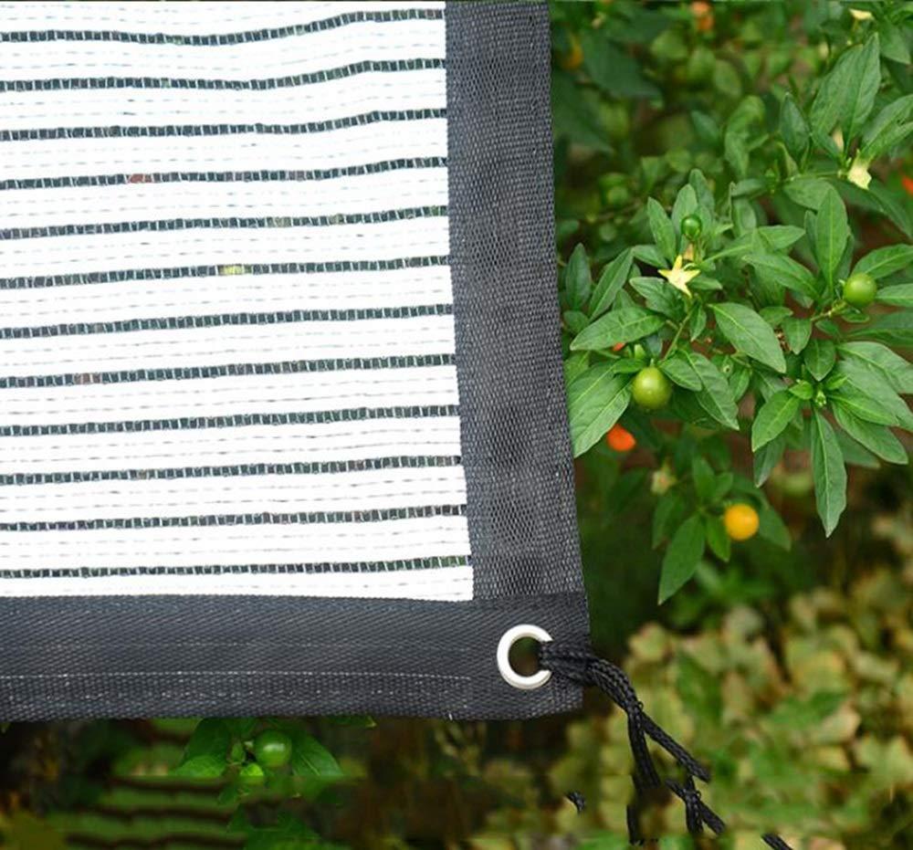 HHT Múltiples Cortinas Neta balcón jardín protección Solar Solar Solar Neta Blanco y Negro Aislamiento Rojo Neta Planta Verde Sombra Neta Rojo de Sombra de Rojo (Color : Negro+Blanco, Tamaño : 1  1.8m) 003435