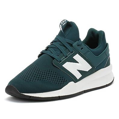 New Balance Herren 247 Deep Jade Grün/Weiß Sneakers-UK 6: Amazon.de ...