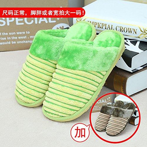 habuji trampolino caldo caffè con 36 maschio scarpe antiscivolo Home e 35 femmina 44 per 43 verde borsa indoor pantofole cotone uomini donne qz5gSdw