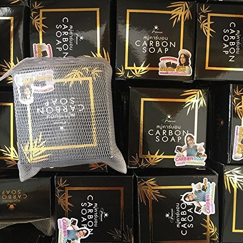 1 Pcs x Carbon Soap Princess Skin Care 100 g. Carbon Black Soap, Soap Detox Acne by jawnoy shop