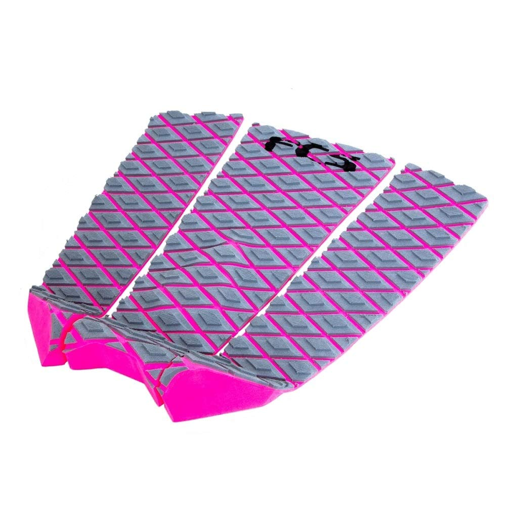 FCS Fitzgibbon Athlete Series Traction Pad Grey-Bright Pink