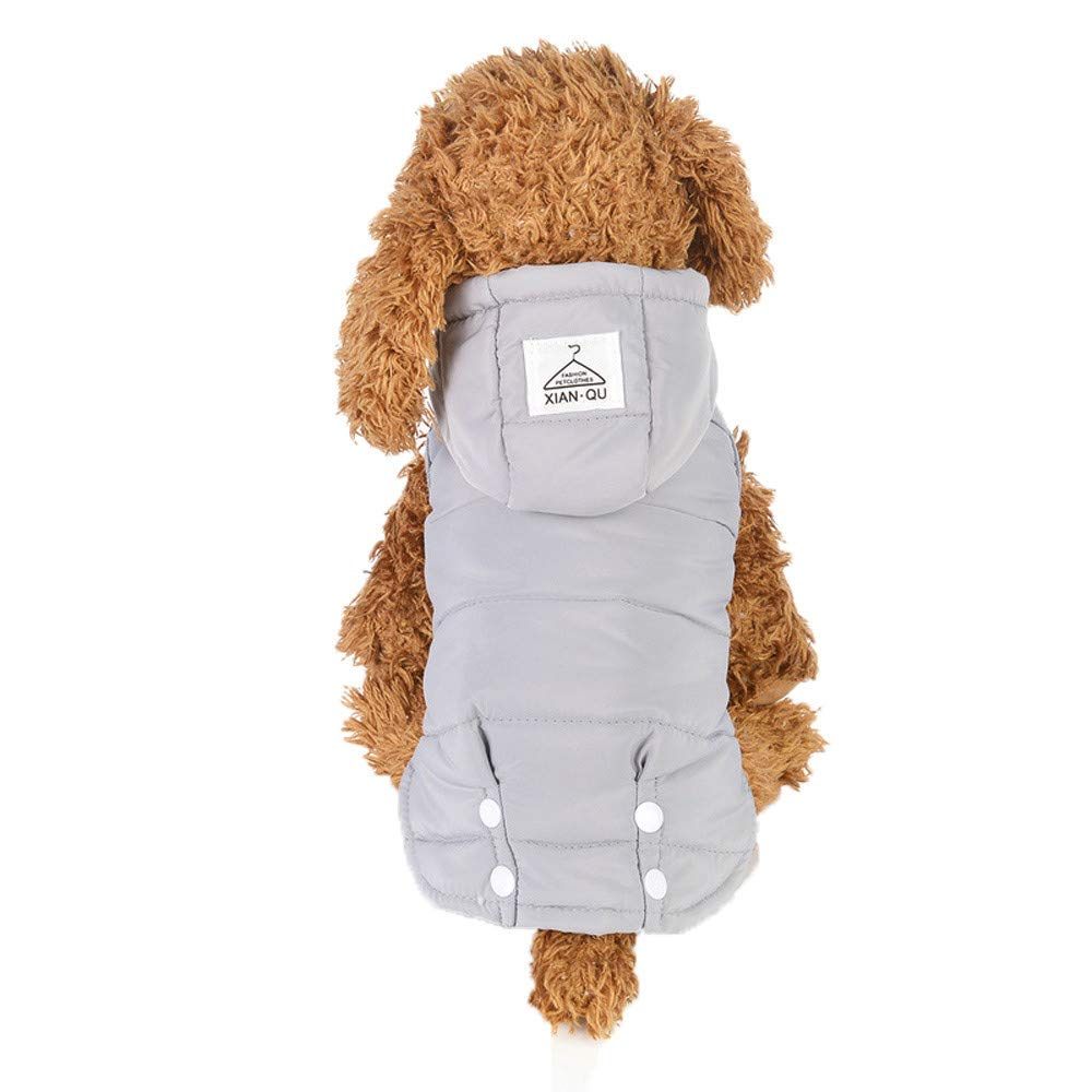 Glumes Clearance Cat Dog Doggie Down Jacket Hoodie Coat Pet Clothes Warm Clothing for Small Medium Large Dogs Winter Cold WeatherFull Coverage and Windproof Protection, Ideal