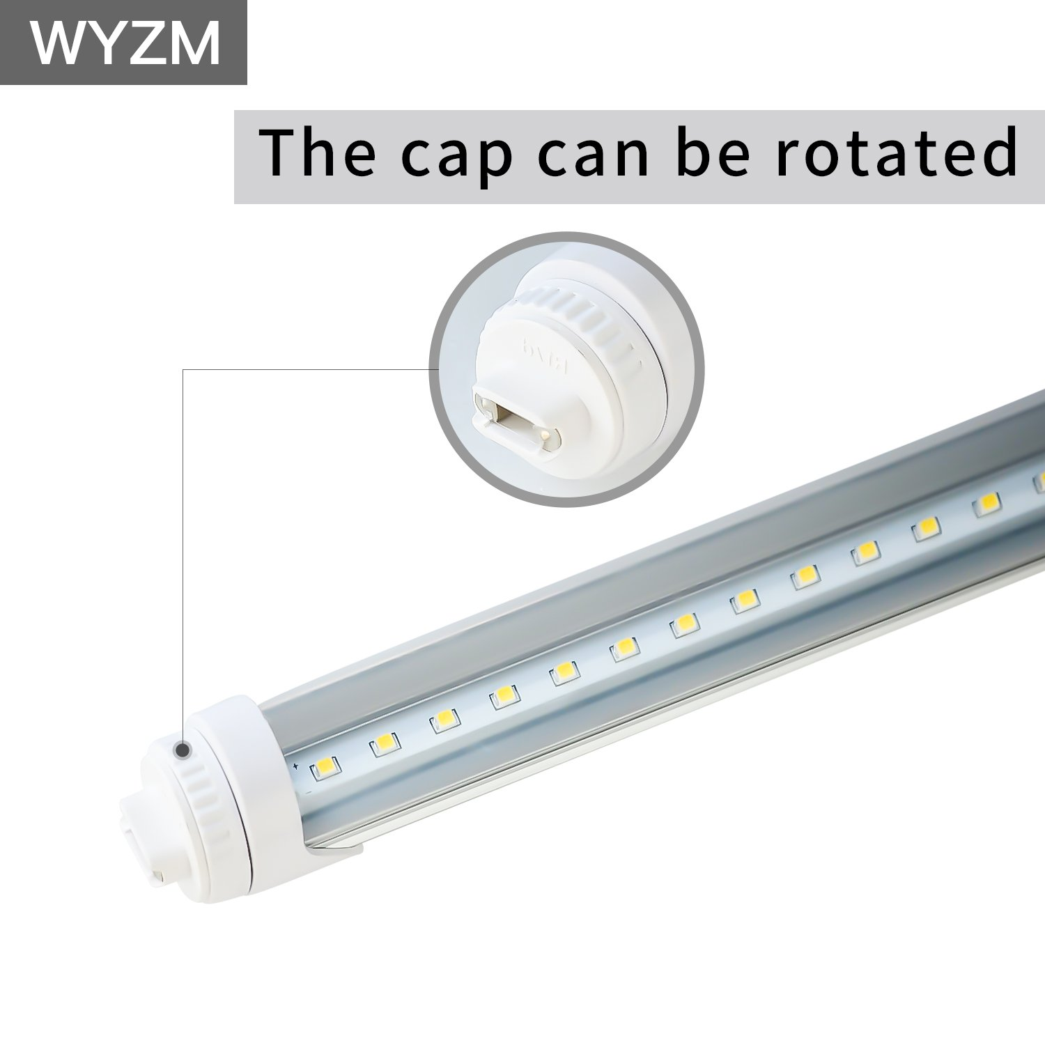 WYZM R17D 4FT 20W F48T12/CW/HO Straight T12 Fluorescent LED Tube Light Bulb for Vending Cooler Freezer Replacement Bulb (10-Pack 5500k) by WYZM (Image #4)