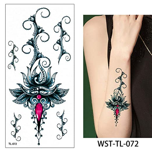 Modeganqing 8 Piezas de joyería para Mujer Tatuaje Cuerpo Pecho ...