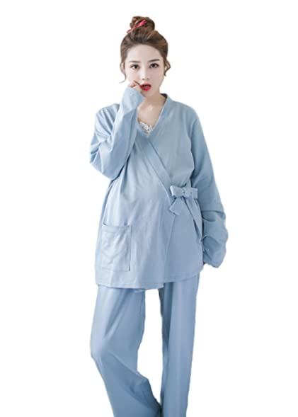 cada20cc2f18e Befair Women S Maternity Nursing Pajamas Set 3 Pcs Robe