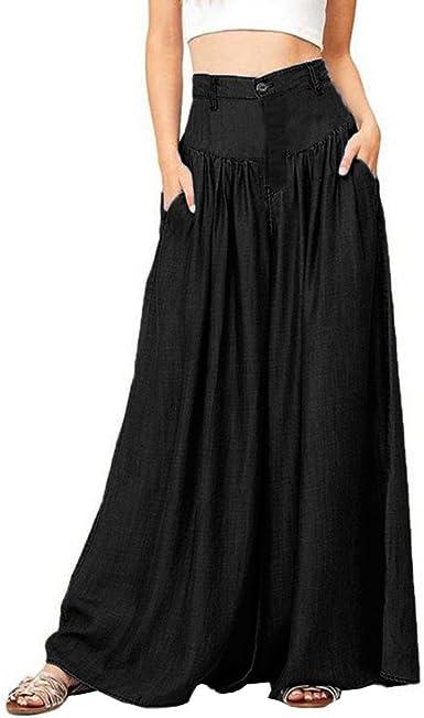 Tallas Grandes para Mujer Pantalón Ancho Pantalón Largo Pantalones ...